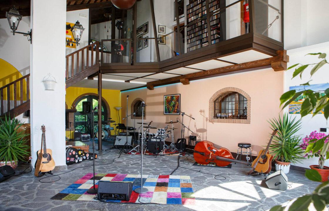 sala registrazione e streaming nella campagna di Padova